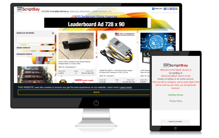 ScriptBay - Advanced Affiliate Ebay Script Download